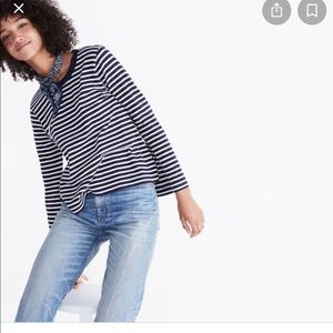 Madewell Rivet and Thread bell sleeve tee